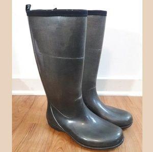 Kamik Black Tall Waterproof Rain/Snow Boots Size 8